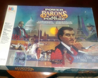 Vintage (1986) Power Barons board game of international rivalry and business published by Milton Bradley. Incomplete (see below).