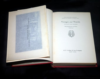 Antiquarian book Harvard Classics Volume 33 Voyages & Travels: Ancient and Modern. Printed PF Collier USA.