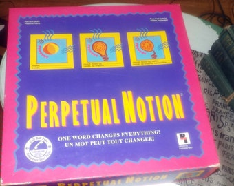 Vintage (1993) Perpetual Notion vintage board game.  One Word Changes Everything! published by Playtoy | Pressman. Complete.