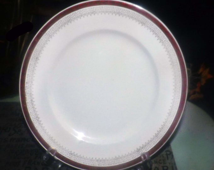Early mid-century (1940s) Royalty | NOS1 hand-decorated salad | side plate by North Staffordshire Pottery.