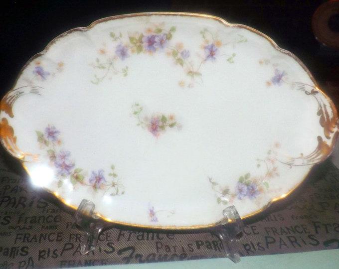 Quite vintage (1930s) GDA Limoges | Gerard Dufraisseix Abbott | Field Haviland GDA169 oval vegetable platter.