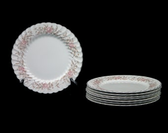 Vintage (1960s) Sovereign Potters Prince Charles dinner plate. English ironstone decorated in Canada. Sold individually.