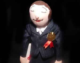 Vintage (1989) Mighty Star Dolls Coping Award soft sculpture School Principal doll. School Principal | Back to School gift.