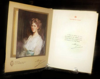 """Antique (1914) Princess Mary's Gift Book published by Hodder & Stoughton.  Proceeds to Queen's """"Work for Women"""" Fund."""