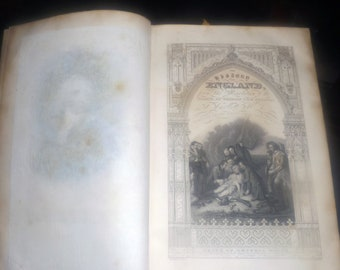 Antique (1832) Tobias Smollett The History of England continued from Hume. Leather-bound. Revolution to Death of George II.