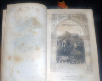 Antique (1832) David Hume masterpiece The History of England. Leather-bound Volume II: Invasion of Julius Caesar to the 1688 Revolution