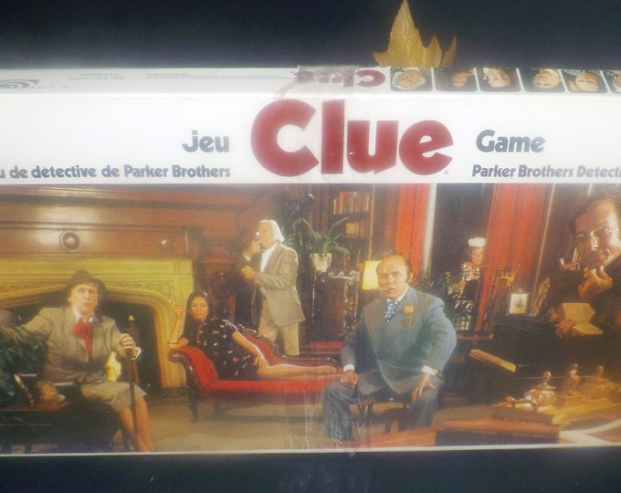 Vintage (1972) Clue board game by Parker Bros. Complete with a copy of original instructions. Made in USA.