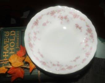 Vintage (1980s) Myott Bride's Bouquet   Brides Bouquet cereal, soup, or salad bowl. Pink rose sprays, swirled.