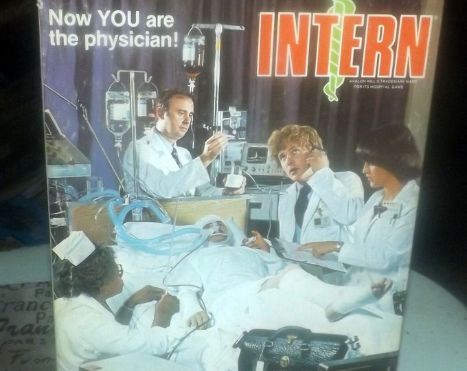 Vintage (1979) Intern board game published by Avalon Hill. Made in USA.  The Doctor's Game.