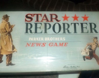 Vintage (1958) and hard to find Star Reporter board game published by Parker Brothers.  Complete with instructions.