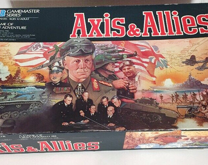 Vintage (1987) Axis & Allies Milton Bradley Strategy | War board game. Milton Bradley Game Master series. Complete.