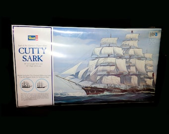 Vintage (1974) Revell Cutty Sark H399 Model Kit. New, unused and unassembled in sealed package. Made in USA.