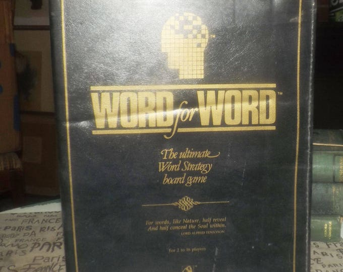 Vintage (1987) Word for Word board game published in Canada by now-defunct boutique game house Spellcraft. 100% Complete.  Up to 16 players