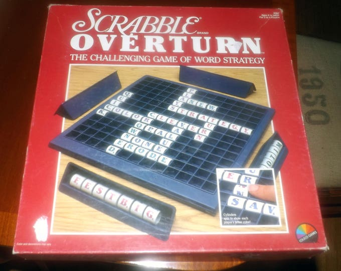 Vintage (1989) Scrabble Overturn board game published in Canada by Coleco Industries.  Complete.