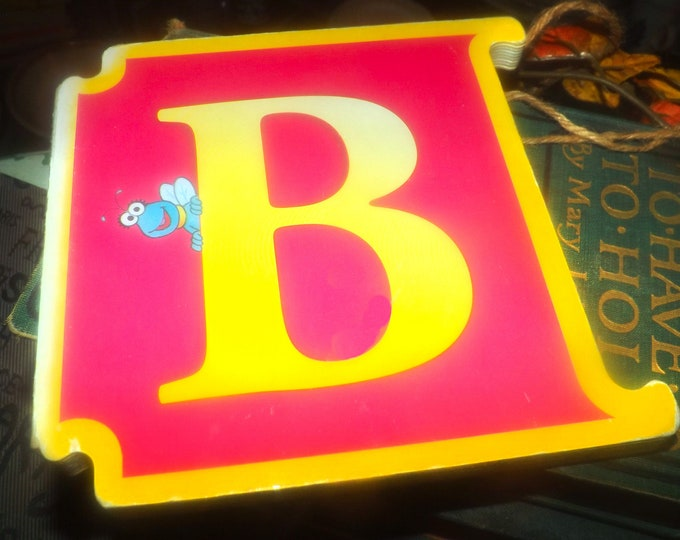Vintage (1996) CTW Sesame Street Letter B: Zoe and the Runaway Ball interlocking book. ABCs Muppets Elmo Reader's Digest Young Families.