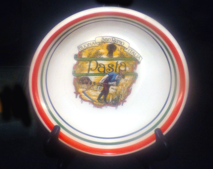 Vintage (1980s) Himark San Remo Buona Italia individual pasta bowl. Made in Italy.