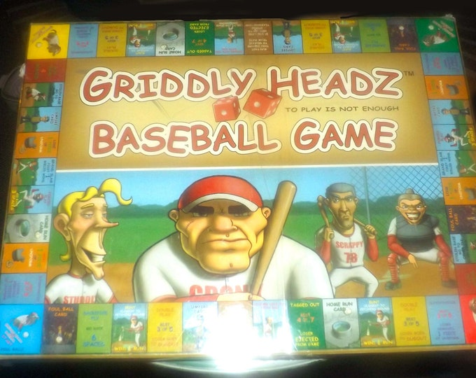 Griddly Headz Baseball board game published by Headz Games Inc. 2004.  Complete.