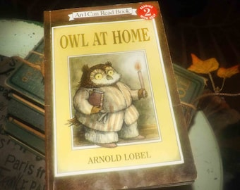 Vintage (1975) children's paperback book Owl at Home by Arnold Lobel. An I Can Read Book. Published printed USA by Harper Collins. Complete.