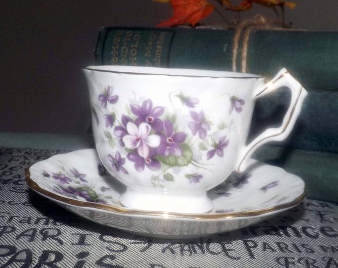 Vintage (1960s) John Aynsley Violette White tea set.