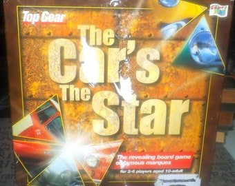 Vintage (1993) The Car's the Star board game based on the TV show Top Gear.  100% complete.