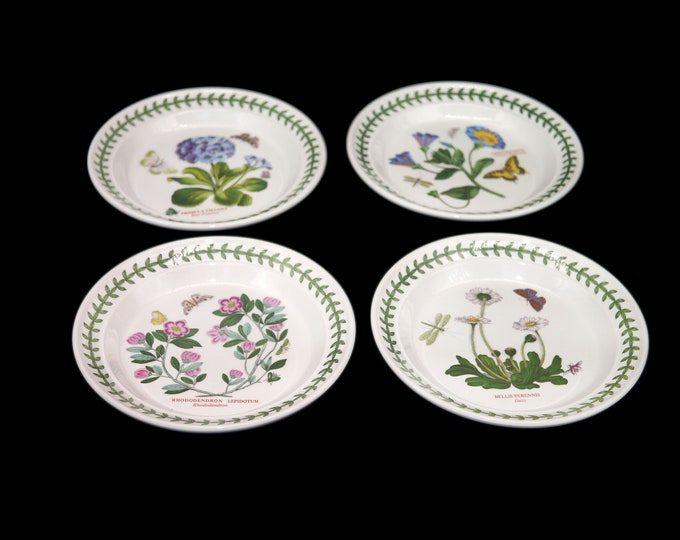 Vintage (1980s) Portmeirion Botanic Garden bread, dessert, side plate. Choice of pattern sold individually.