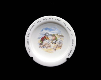 Vintage (1980s) Johnson Brothers Alice in Wonderland child's cereal, oatmeal or porridge bowl made in England. Great baby gift.