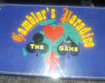 Vintage (1995) and rare Gambler's Paradise Board Game. SRK Creations. Made in Canada. Complete.