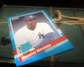 Vintage (1991) DonRuss baseball card #31 Hensley Meulens RR Outfield New York Yankees.