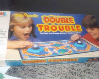 Vintage (1987) Milton Bradley Pop-O-Matic | Popomatic Double Trouble board game. Complete.
