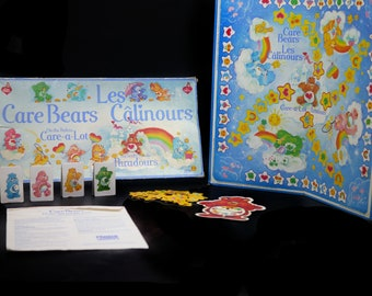 Vintage (1983) Parker Brothers Care Bears On the Path to Care-a-Lot board game. Canadian English   French edition. Incomplete (see below).