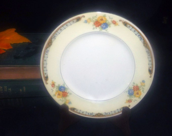 Vintage (1930s) Alfred Meakin Celia art deco bread, dessert or side plate made in England.