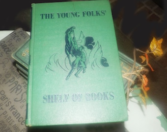 Early mid-century (1948) The Young Folks Shelf of Books Vol 7 The Animal Book. Animal Stories. Collier. USA. Junior Classics. Complete.