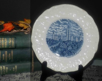 Almost antique (1920s) Johnson Brothers The Old Dominion bread-and-butter, dessert, or side plate. Canadian Parliament Buildings.