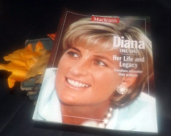 1997 Macleans Magazine Princess Diana 1961-1997 Life and Legacy Special Commemorative Edition. Complete. Fabulous photos.