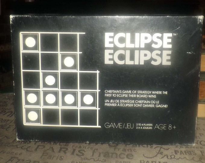 Vintage (1970s) Eclipse dice, logic, strategy board game published by Chieftain.  Made in Canada.  Complete.