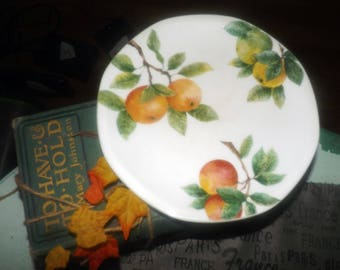 Vintage (1994) Royal Doulton Citrus Grove TC1192 salad or side plate. Oranges on the branch. Multi-sided shape.