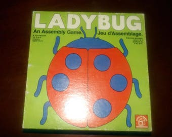 Vintage (1975)  Ladybug Assembly game published and made in Canada by Waddingtons | House of Games. Complete.
