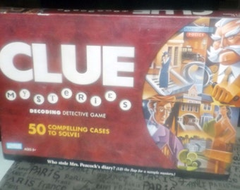 Clue Mysteries Decoding Detective board game published by Parker Brothers.  Complete.