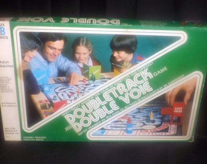 Vintage (1981) Doubletrack board game by Milton Bradley. Complete.
