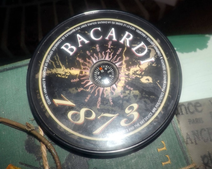 Vintage (1973) Bacardi Rum compass.  Great accent or decor item for the home bar.