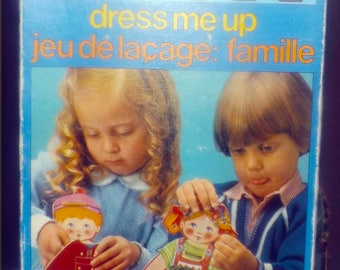 Vintage (1970s)  Battat Games | Sallent Hermanos Dress Me Up boy and girl doll dress-up game.  Made in Spain.