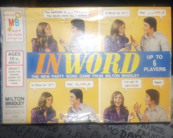 Vintage (1972) Inword party | team board game. Made in Canada. Published by Milton Bradley | Somerville. Incomplete (see details below).