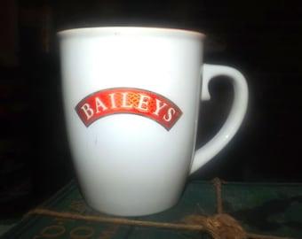 Vintage (mid 1990s) Bailey's Irish Cream red-and-white signature coffee or tea mug.