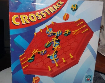Vintage (1994) Crosstrack | Cross Track board game published by Discovery Toys | University Games.  Complete.