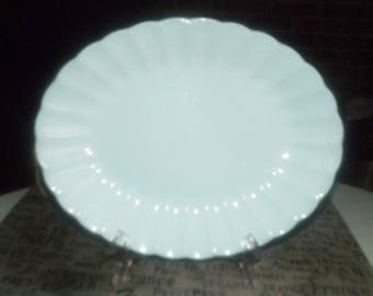 Mid-century (1950s) Sovereign Potters Canada Morn Glo all-blue oval vegetable serving platter.  Laughlin Fiesta-like.