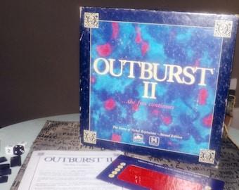 Vintage (1991) Outburst! II board game published by Golden Hersch. Complete