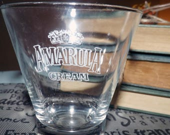 Vintage Amarula Cream tulip-shaped glass.  Commercial quality weighted base, etched logo.