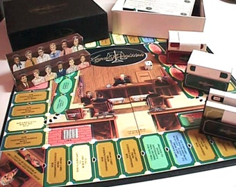 Vintage (1985) rare limited-edition | first-edition Legal Decision board game. Published by Gatti Industries. Made in USA. Complete.