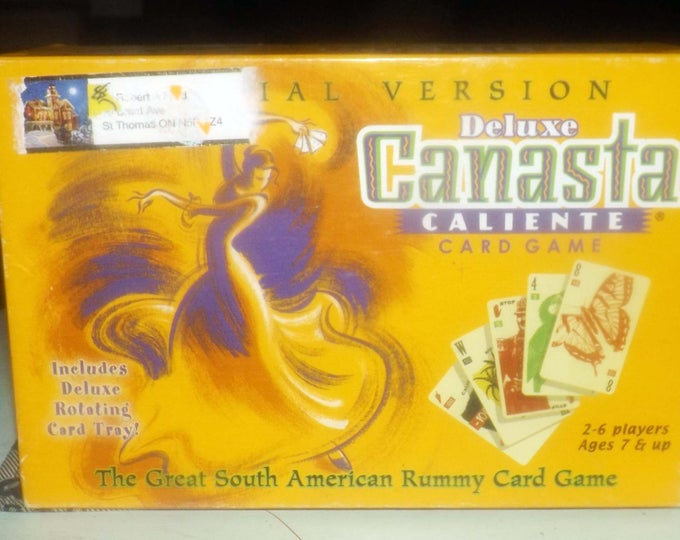 Vintage Deluxe Canasta Caliente board game published by Winning Moves.  Rotating tray. Complete.