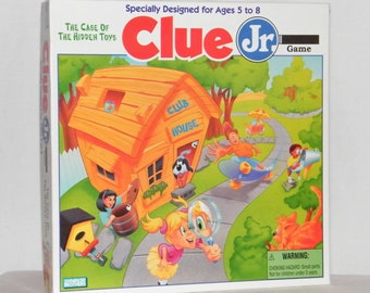 Vintage (1995) Clue Jr The Case of the Hidden Toys board game by Parker Brothers. Complete.